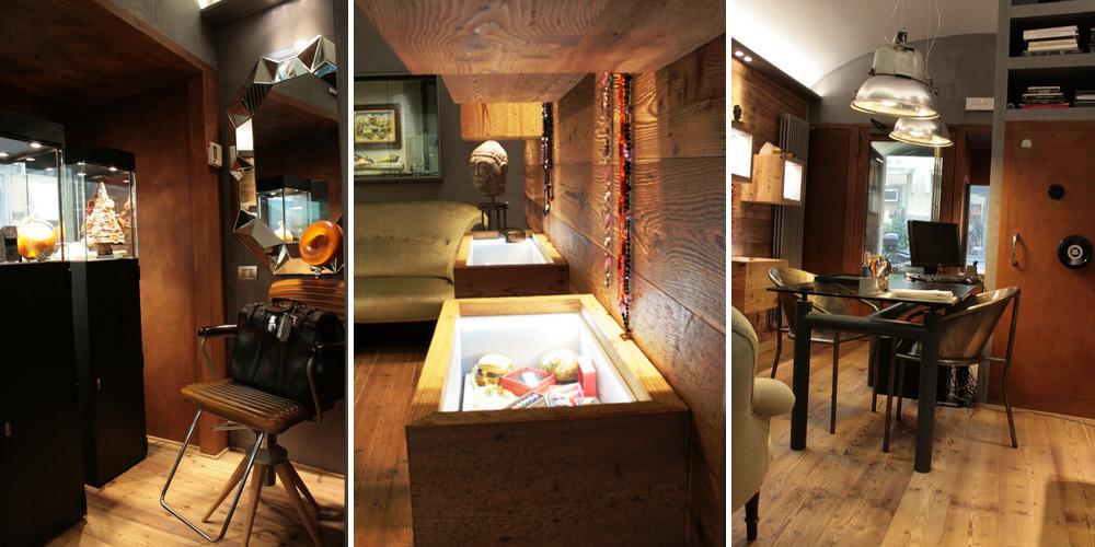 Rivestimento interno con pareti in legno di larice jove for Materiali di rivestimento in legno casa